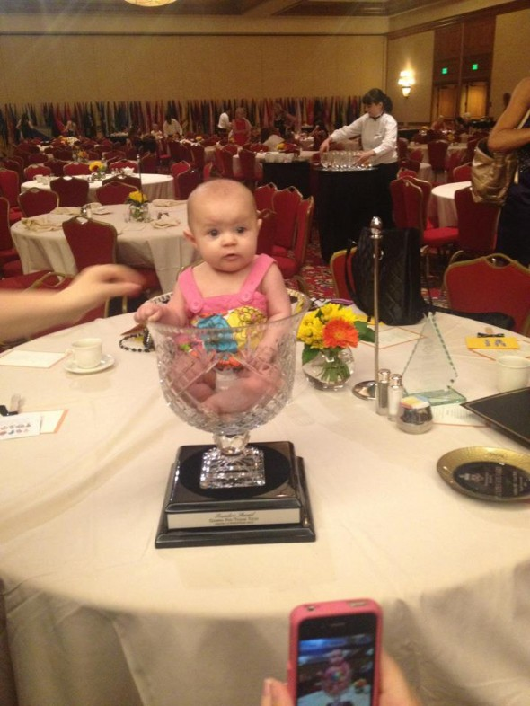 Your chapter of the year award at Grand Convention being big enough to hold a baby legacy. TSM.