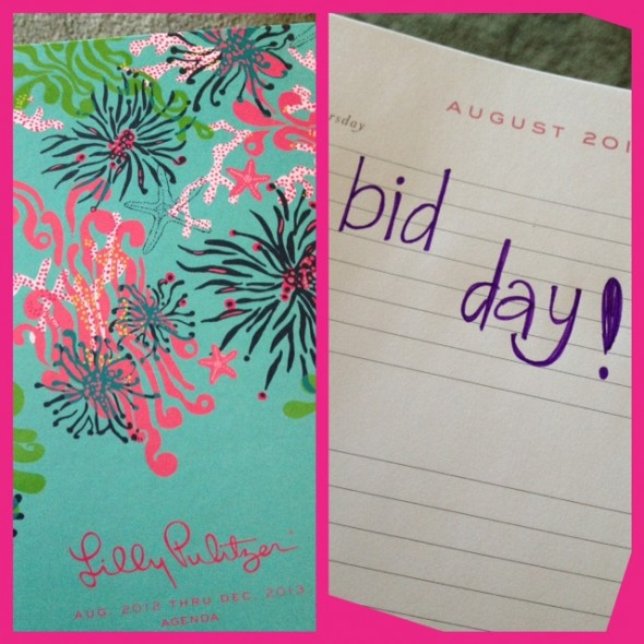 Entering my favorite day of the year in my new Lilly Planner. TSM.