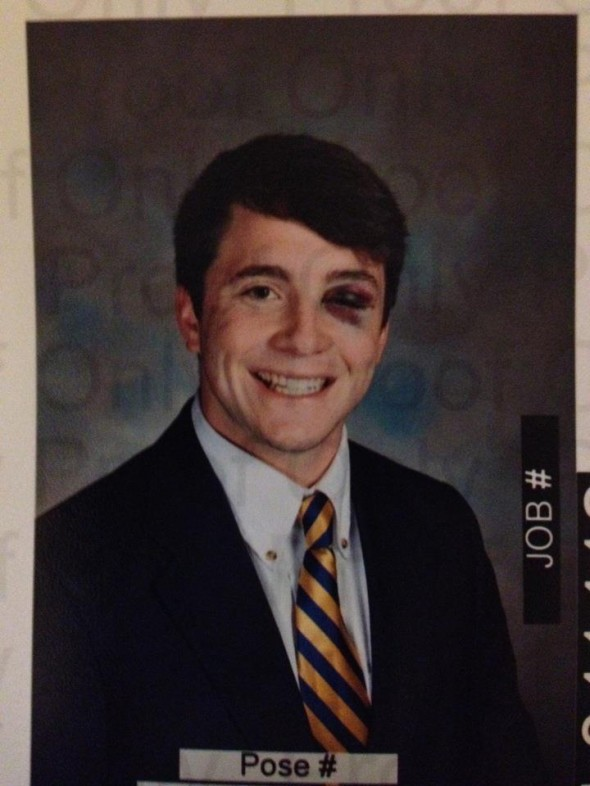 Drinking before intramural softball. TFM. Composite pictures the next day. TFTC.