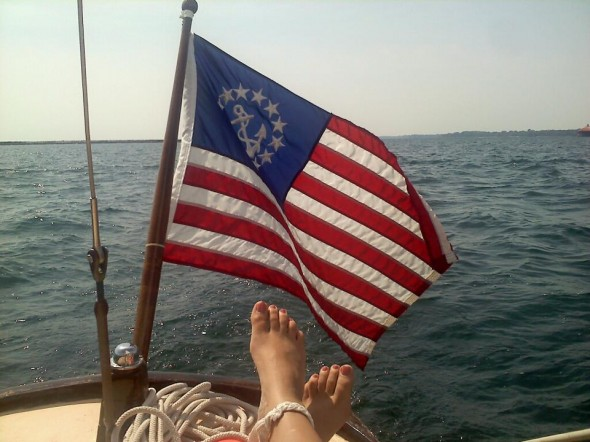 Best things about my political internship? Sailing, my sorority symbol, and America. TSM.
