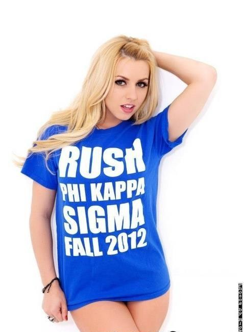 Porn star Lexi Belle wearing your chapter's rush shirt. TFM.