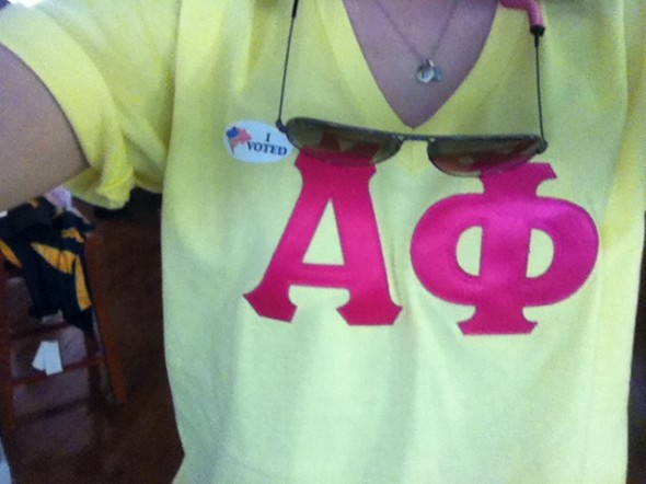 Going to vote for Romney/Ryan in letters. TSM.