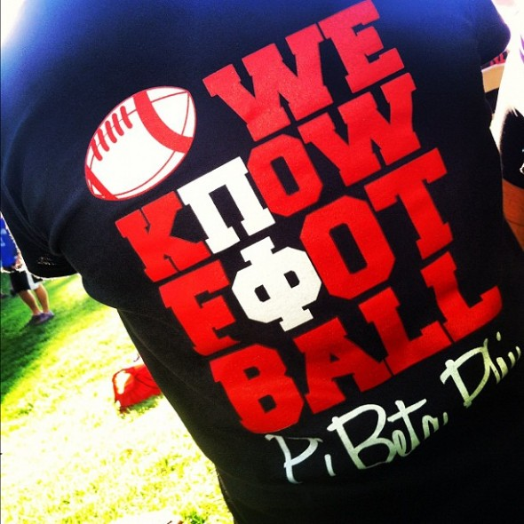 Pi Phi's love football! TSM.