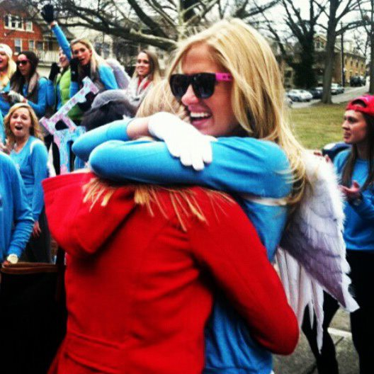 Real sisters becoming Pi Phi sisters! TSM.