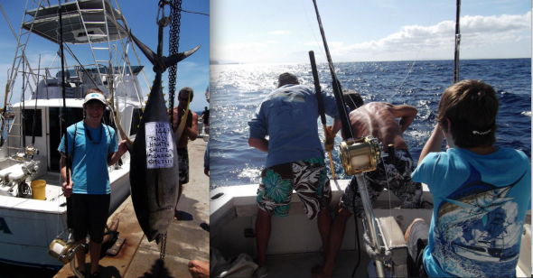 Catching the harbor's record tuna. TFM.