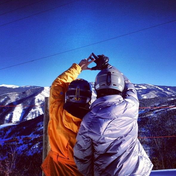 Sisters that ski together stay together. TSM.
