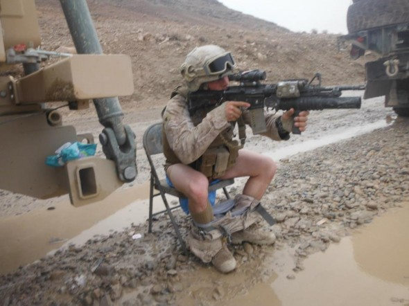Taking a dump during a firefight. TFM.