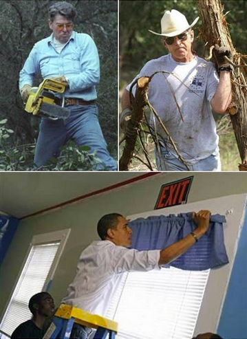 Reagan, Bush, Obama