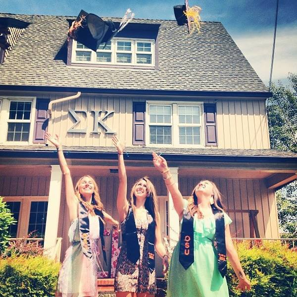Never missing a graduation photo-op with your sisters. TSM.