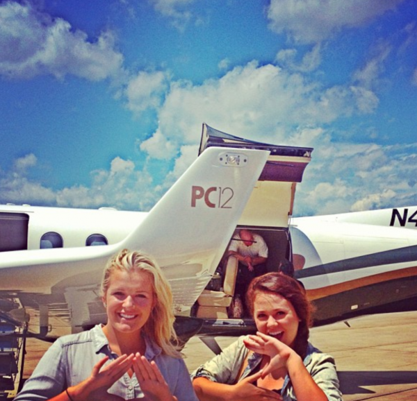 Flying in a private plane that reps your sororities pledge class. TSM.