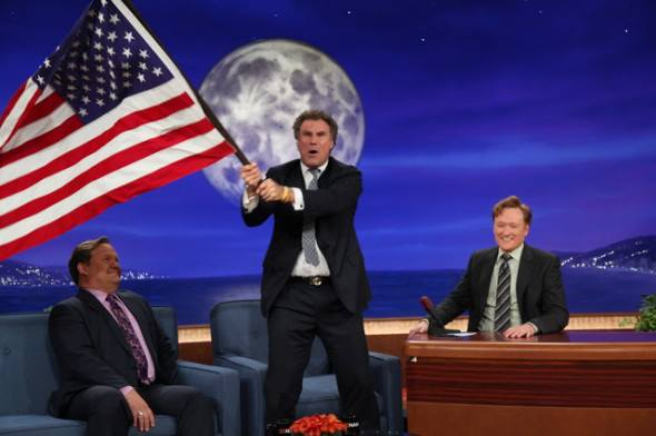 "Will Ferrell yelling ""Russia sucks!"" and waving the stars and stripes on TV. TFM."