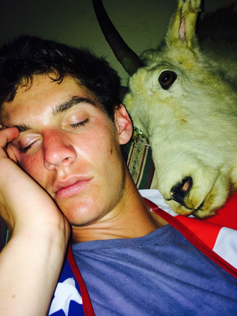 Sleeping with farm animals. TFM.