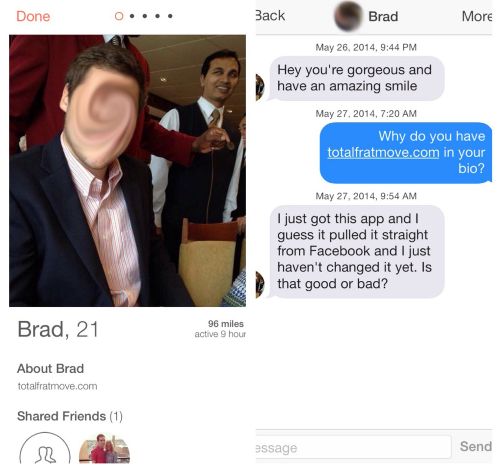Really solid Tinder game.