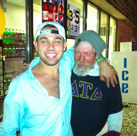 Leave that fratty homeless bro alone.