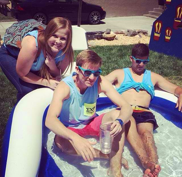 Raging and tanning your abs in a kiddie pool. TFM.