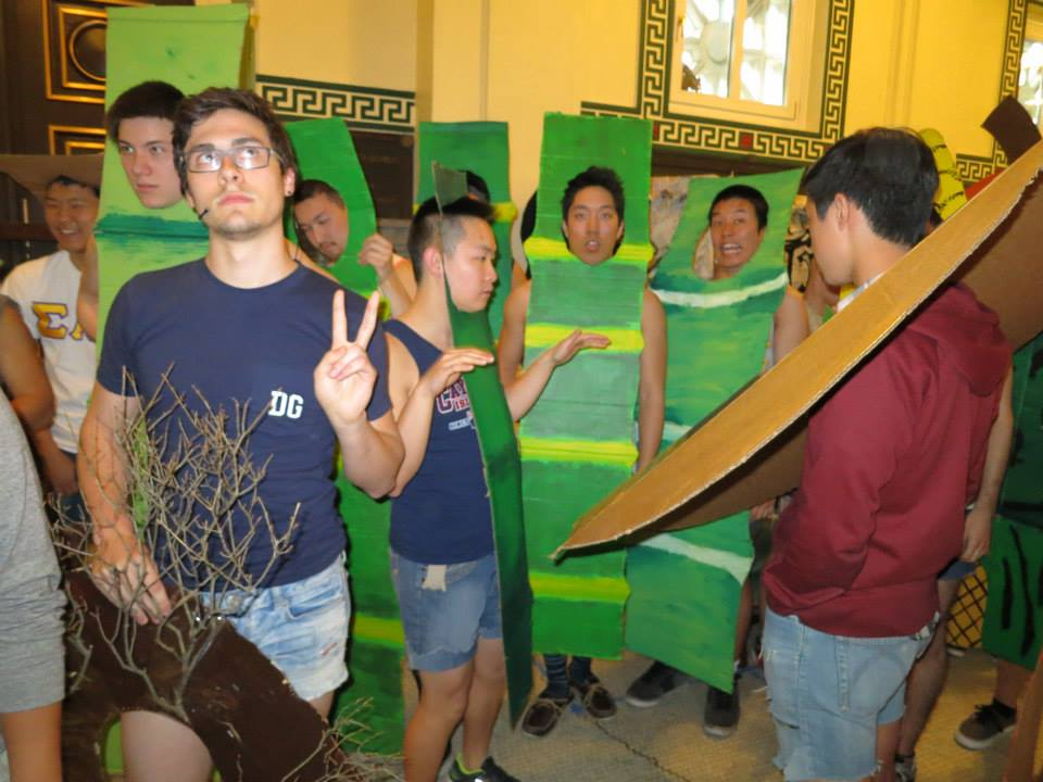 Not a clue. Are they dressed as bamboo? Coo coo cachoo.